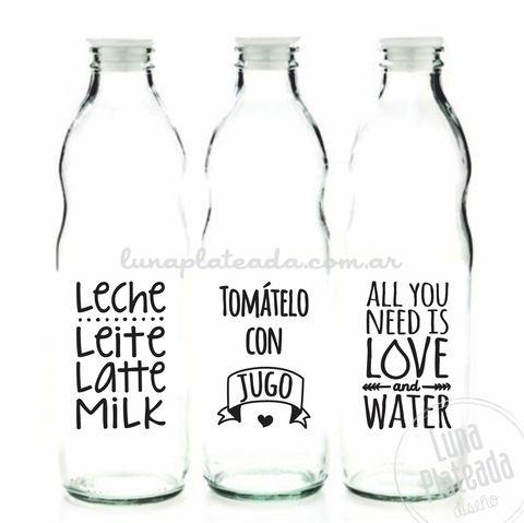 Vinilos para Botellas | Leche, jugo y agua - comprar online