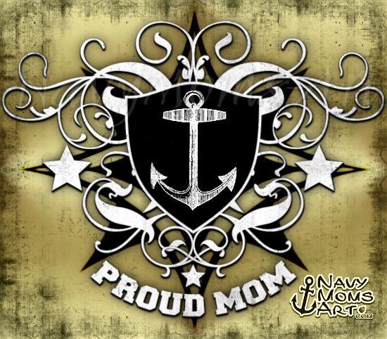 Art4Mil.com - Proud Navy Mom and/or Proud Coast Guard Mom - #NavyMomsArt on facebook. #NavyMom #CoastGuardMom #ProudMom