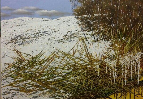 Winter  Acrilico su tela cm 50 x70