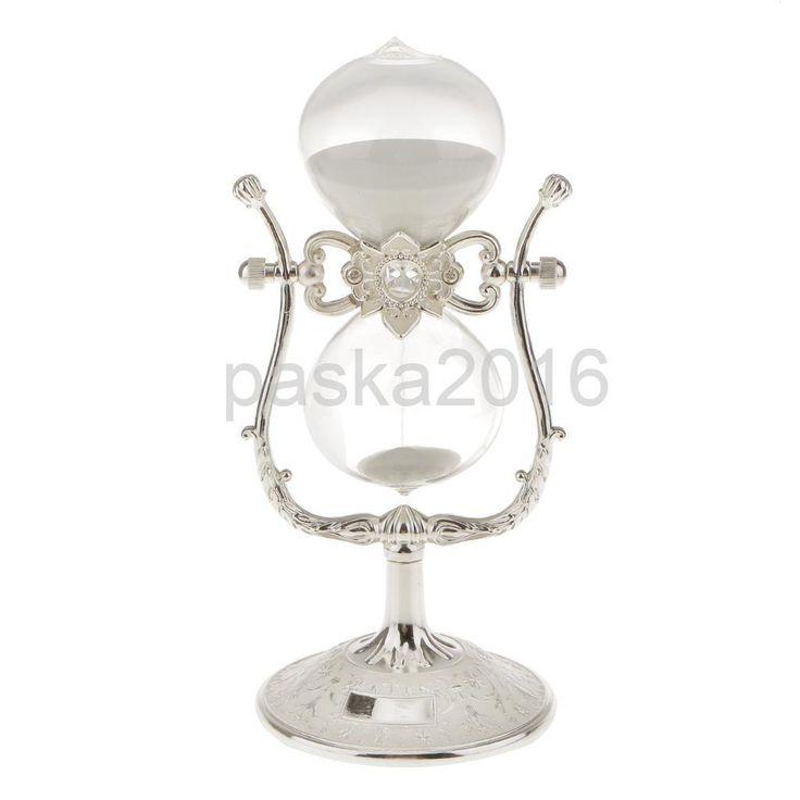 White Rotatable Sandglass Sand Clock Timer Home Table Decoration Ornament