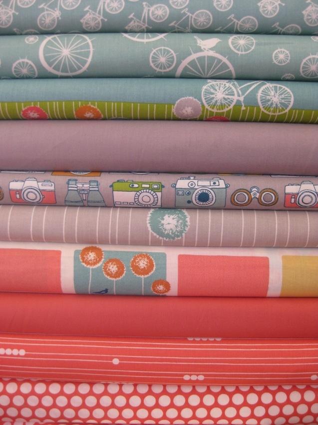 Fabricworm Custom Bundle, Dandelion Field, 10 Total