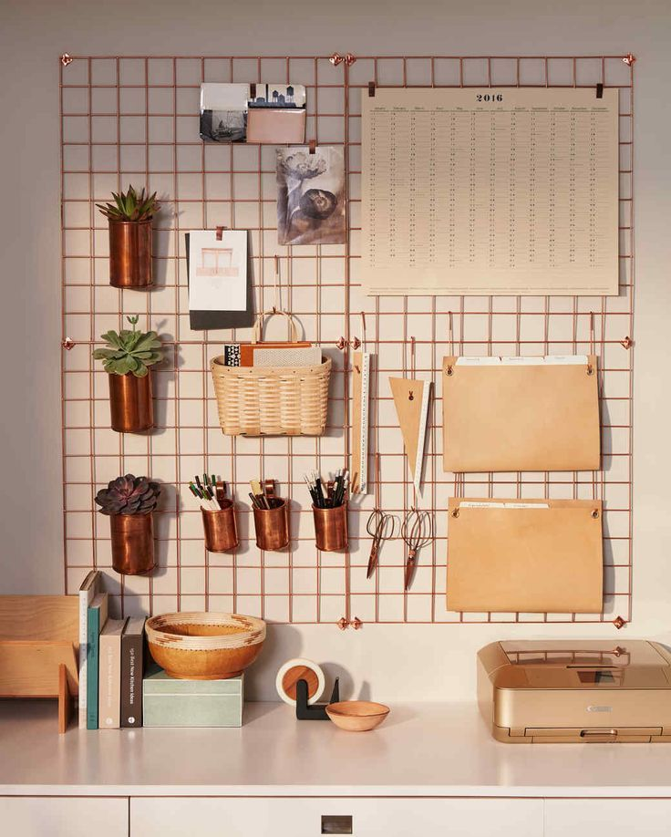 Wall Desk Organizer ~ Urban Outfitters Copper Wire