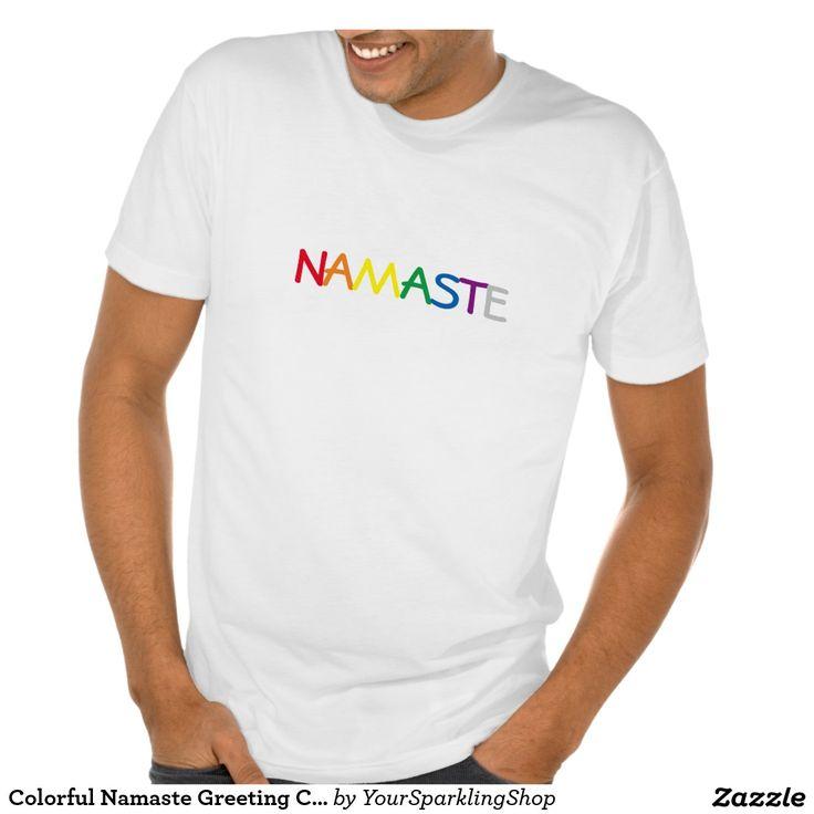 Colorful #Namaste Greeting Chakra Colors White T-Shirt