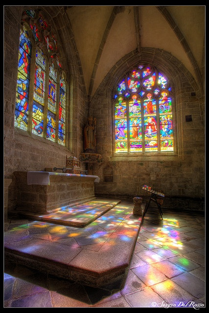 The church of St Ronan, Locronan, Bretagne. By SdR Art Photography on Flickr.
