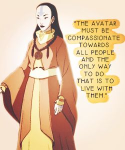 "Yangchen quote from the Avatar video game ""Escape from the Spirit World, explaining why the Avatar exists as a fallible human in each incarnation"