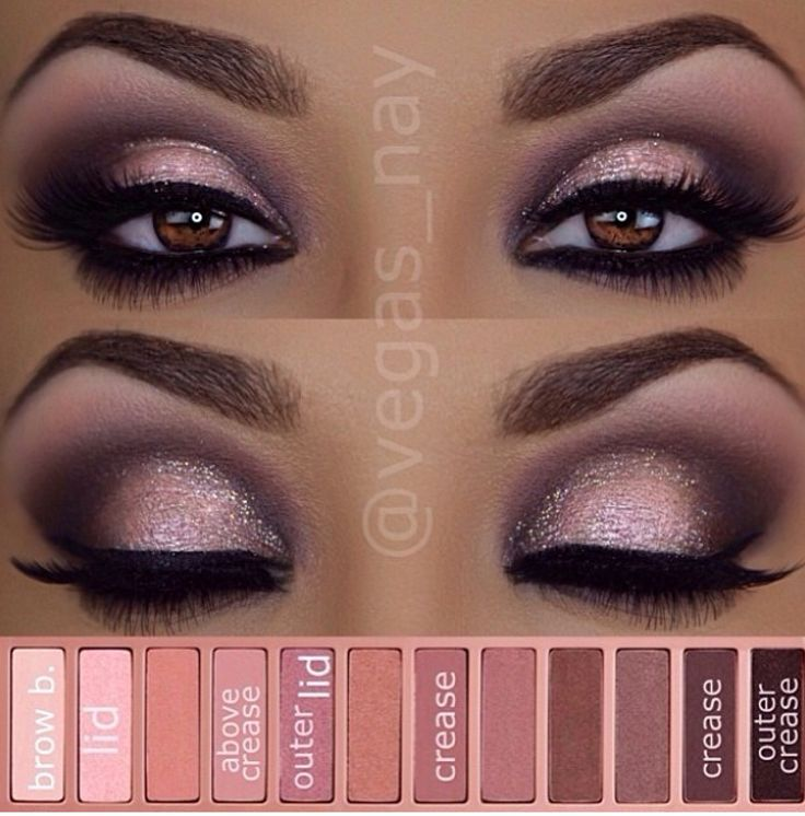Urban decay pallet 3 inspired look