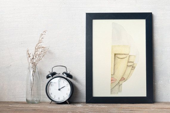 An original watercolor & graphite drawing of my ''Isolation''.