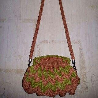 Peach n green bag