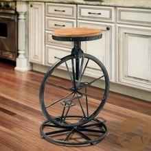 Американский промышленный чердак стиле из кованого железа велосипед стул стул, Из кованого железа барные стулья ретро-бар stools(China (Mainland))