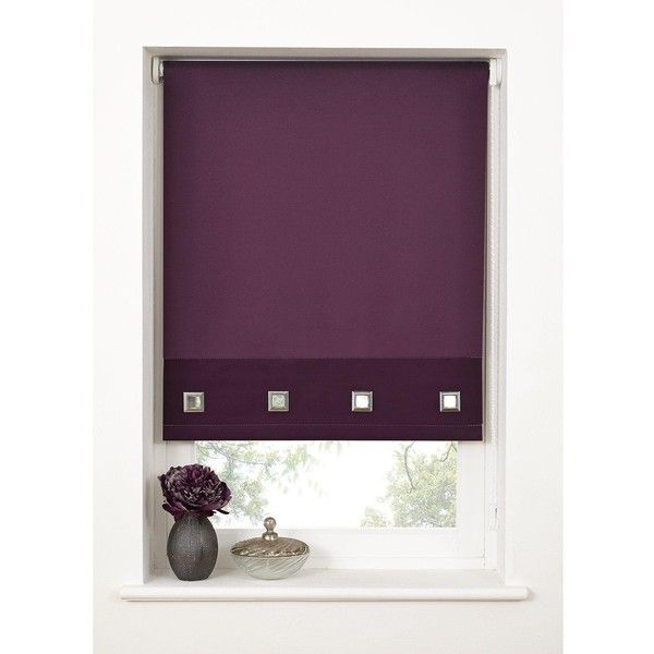 Hamilton Mcbride Square Eyelet Roller Blind ($13) ❤ liked on Polyvore featuring home, home decor, window treatments, window blinds, modern window shades, colored blinds, modern window coverings, modern blinds and colored window blinds