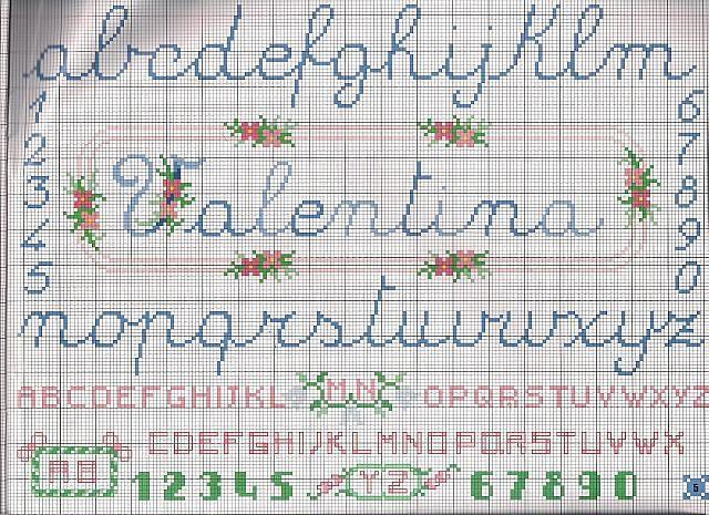 Schemi punto croce alfabeto bambini gn52 regardsdefemmes for Alfabeti a punto croce per bambini