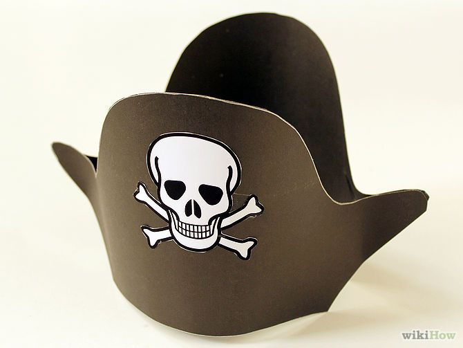 Aprende a hacer un sombrero de pirata vía es.wikihow.com