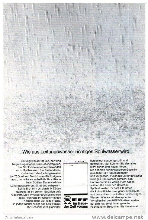 OriginalWerbung/ Anzeige 1966 1/1SEITE NEFF