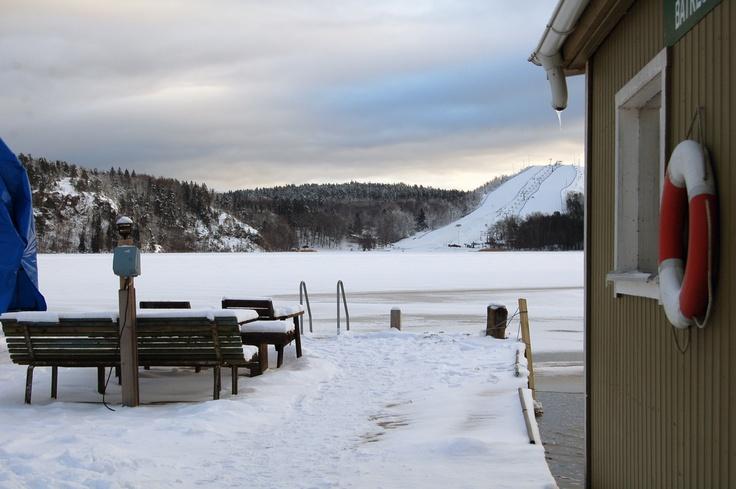 Sauna, sjö & snö <3