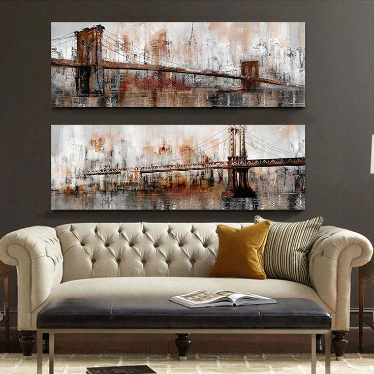 Find More Painting U0026 Calligraphy Information About Modern Architecture Canvas  Art Brooklyn Bridge Golden Gate Bridge Digital Inkjet Living Room Wall Art  ... Part 93