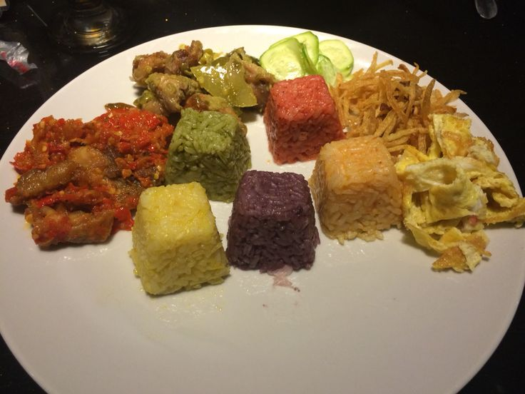 Rainbow rice #lunch #dinner #indonesiafood