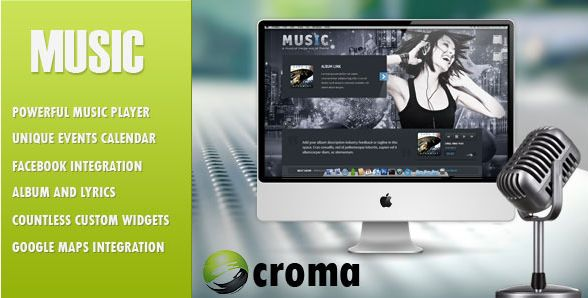 Themeforest – WordPress: Music – Musicians theme