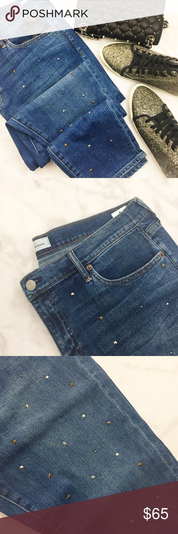 """Star Studded Jeans Details: * Size 32 * """"Best Girlfriend"""" style * Star and pyramid studs on front (plain back) * NWT 01061703 GAP Jeans Boyfriend"""