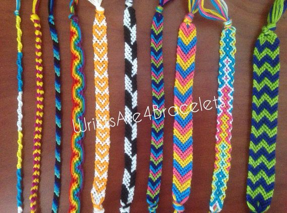 If you cant seem to find the exact bracelet youre looking for, create it here! Here you can request a custom bracelet to be made just for you! Chinese Staircase - 2-6 colors Double Chain Knot - 2 colors Peruvian Wave - 2-6 colors Candy Stripe - 1-6 colors Heart - 2 colors