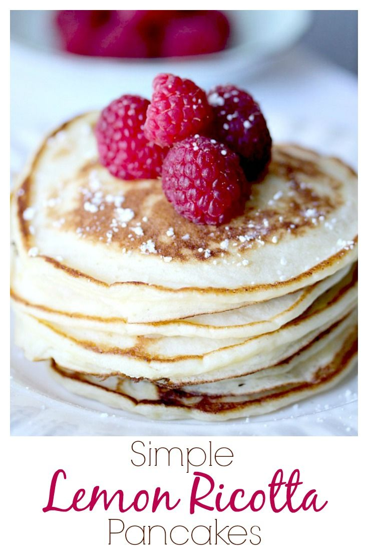 SO easy to make, super moist and lemony!  My absolute favorite pancakes ever!