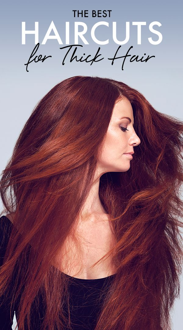 Thick, heavy hair got you down? We've got some haircutting inspiration for you to lighten it up (literally)!