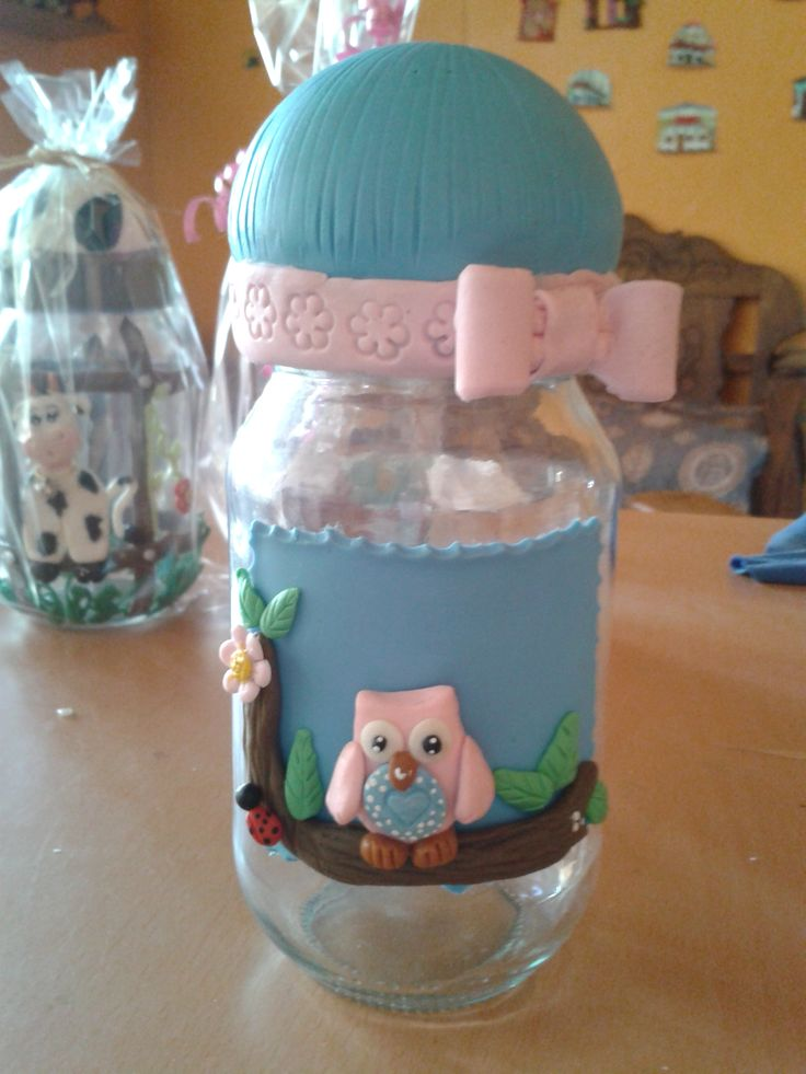 Envases decorados imagui for Envases de vidrio decorados