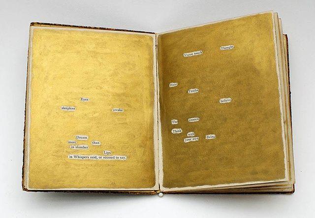Beverly Rayner, Book of Trance Verse, Museum of Mesmerism #gold #erasure #poem