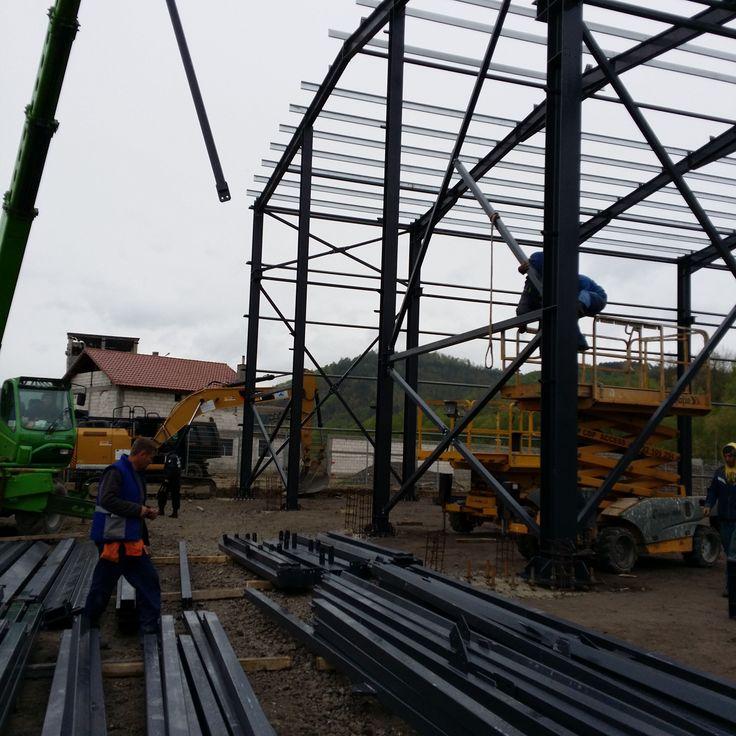 Executie si Montare Hala Spaleck Resita - Structuri metalice | Duna-steel.ro