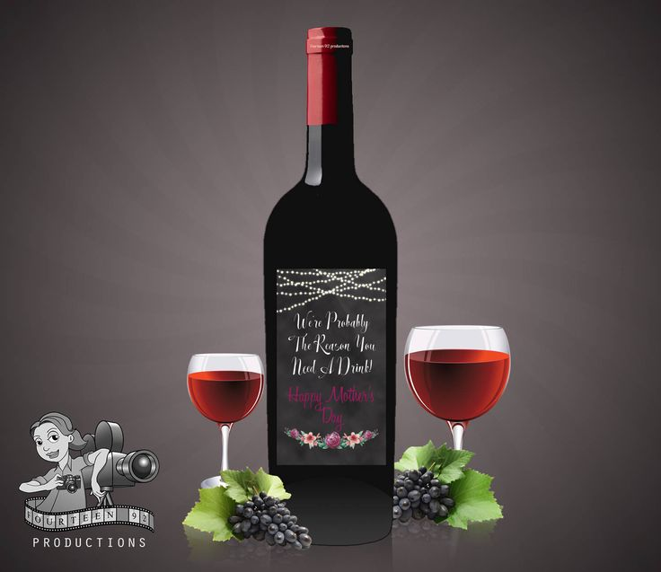 Mother's Day Wine Label We're Probably The Reason You Need A Drink by fourteen92prod on Etsy https://www.etsy.com/au/listing/525916595/mothers-day-wine-label-were-probably-the