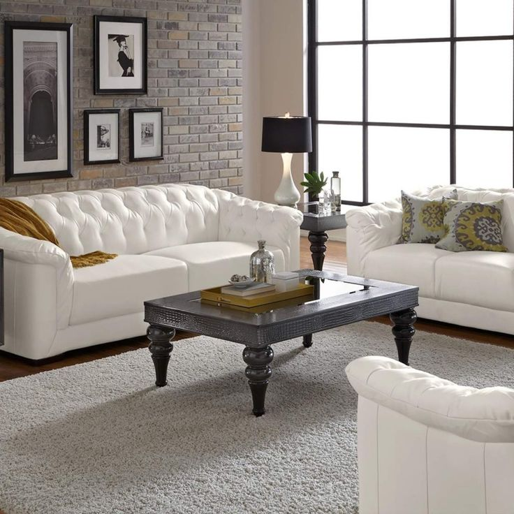 living room ideas white leather sofa