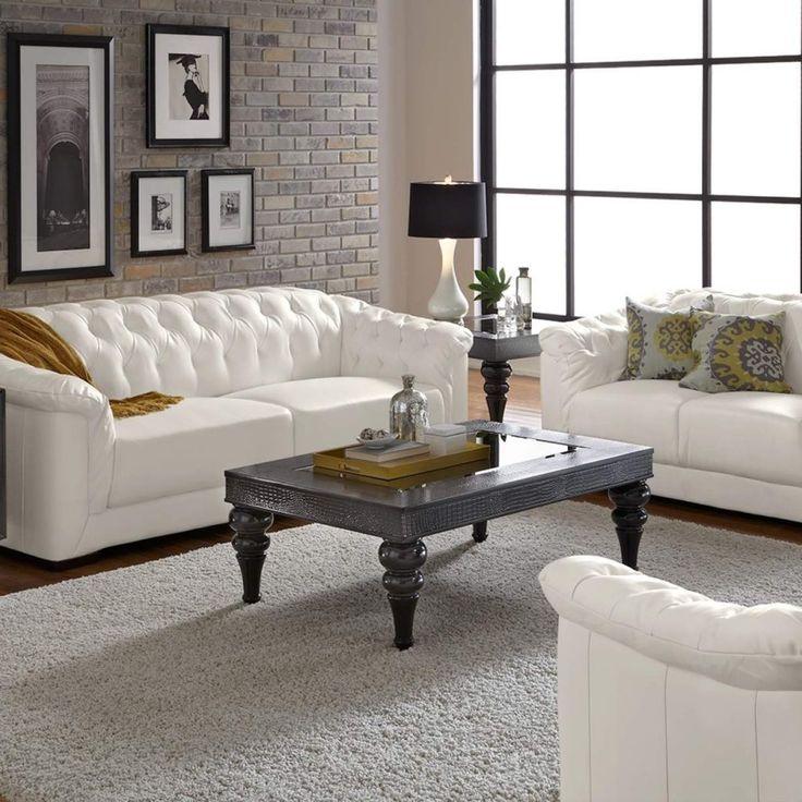Best 25+ White leather sofas ideas on Pinterest   Living ...