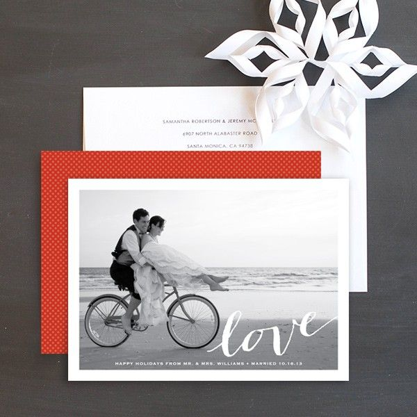 Newlywed Love Holiday Photo Cards by Elli