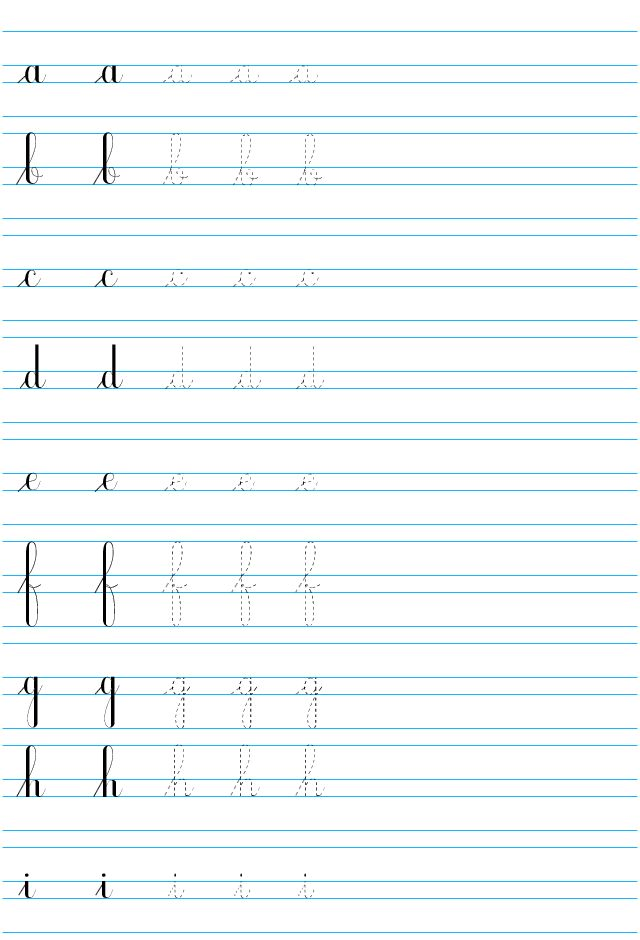 Populaire Plus de 25 idées uniques dans la catégorie Lettres cursives sur  NE48