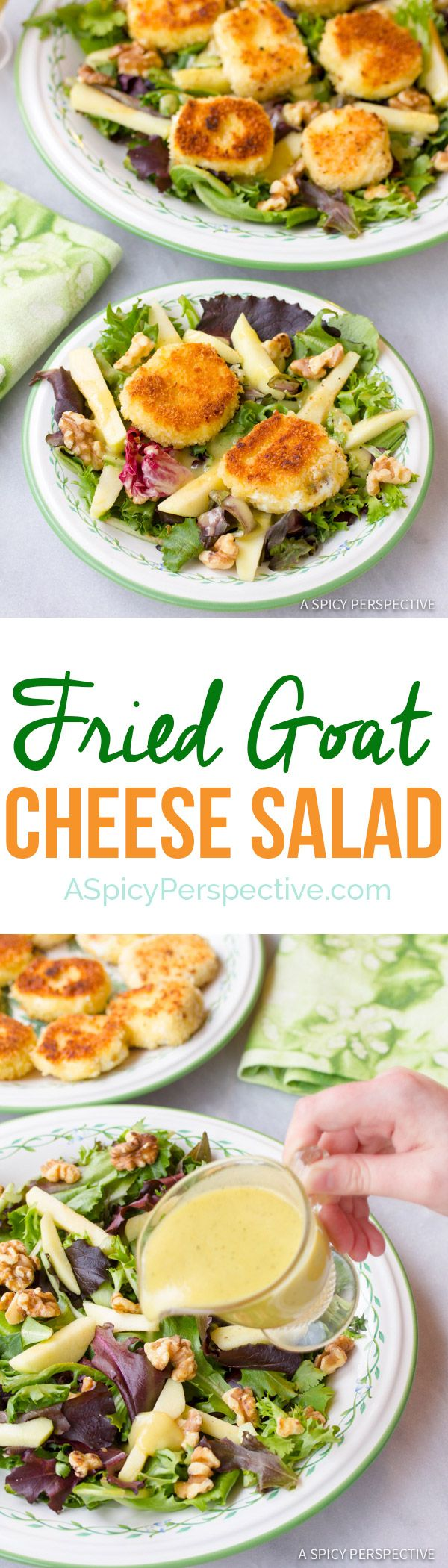 The Ultimate Fried Goat Cheese Salad | ASpicyPerspective.com