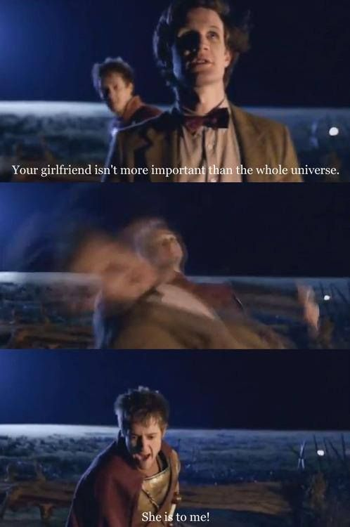 The Doctor was testing to make sure Rory was still himself inside. <--This. You can see it for a brief second on the Doctor's face, how he's hoping to get punched or told off