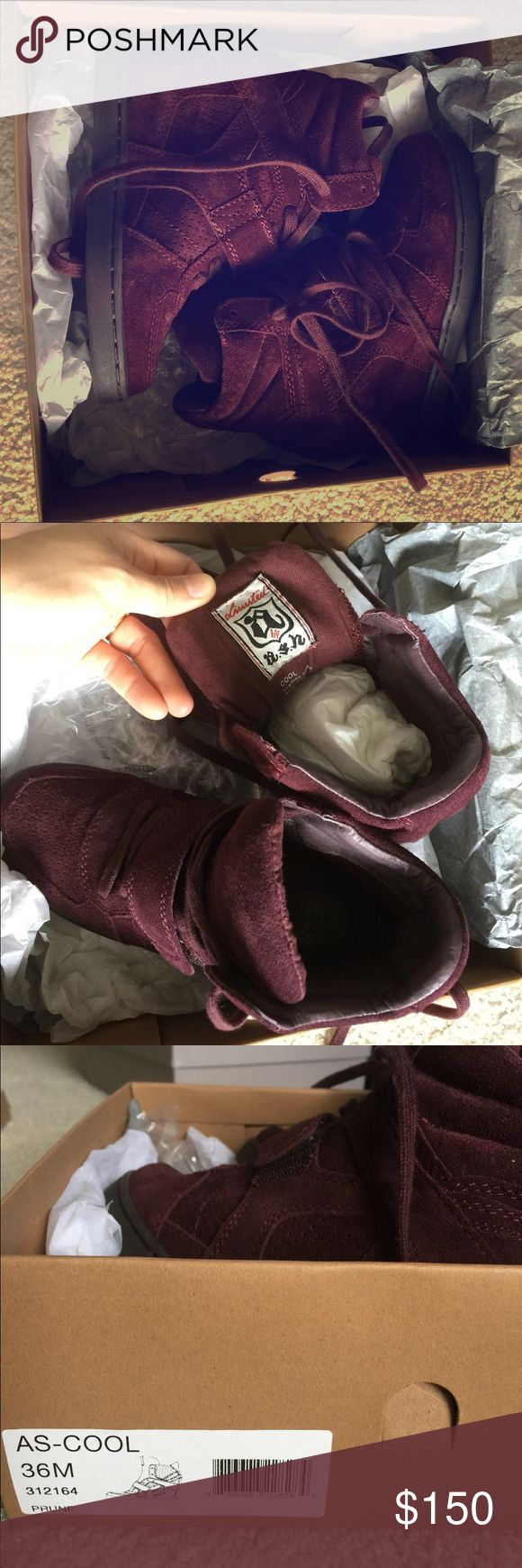 Selling this Ash Bowie Lace-up Suede Sneaker Bootie - Barolo on Poshmark! My username is: arksweet. #shopmycloset #poshmark #fashion #shopping #style #forsale #Ash #Shoes