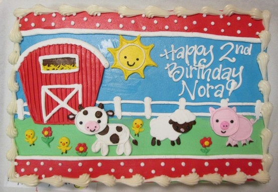 On the Farm Barnyard Birthday Cake #icingonthecakelg