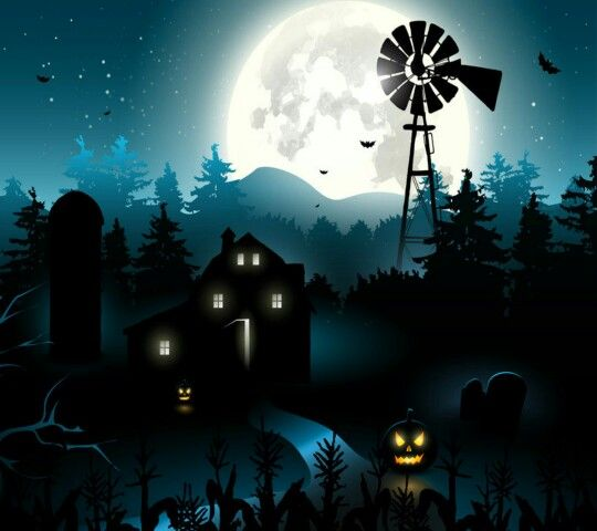 Spooky Farm Background For Halloween Party Photo Booth