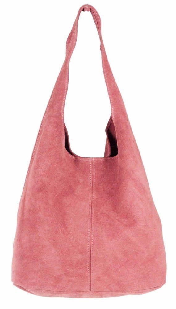Italian Suede Leather Large Slouch Hobo Shoulder Handbag Tote   shoulderhandbags f61391163ac44