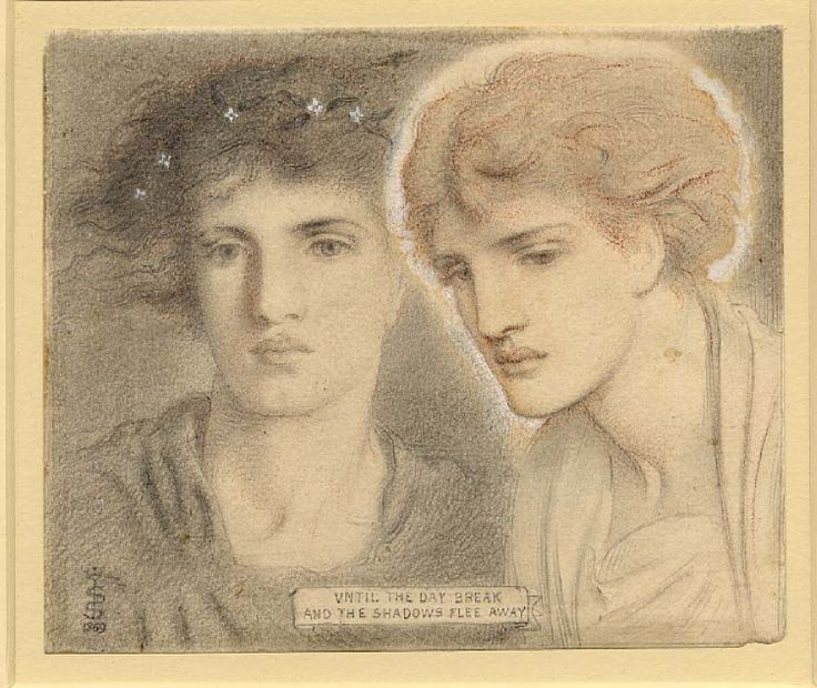 Until the day break and the shadows flee away by Simeon Solomon. 1869.