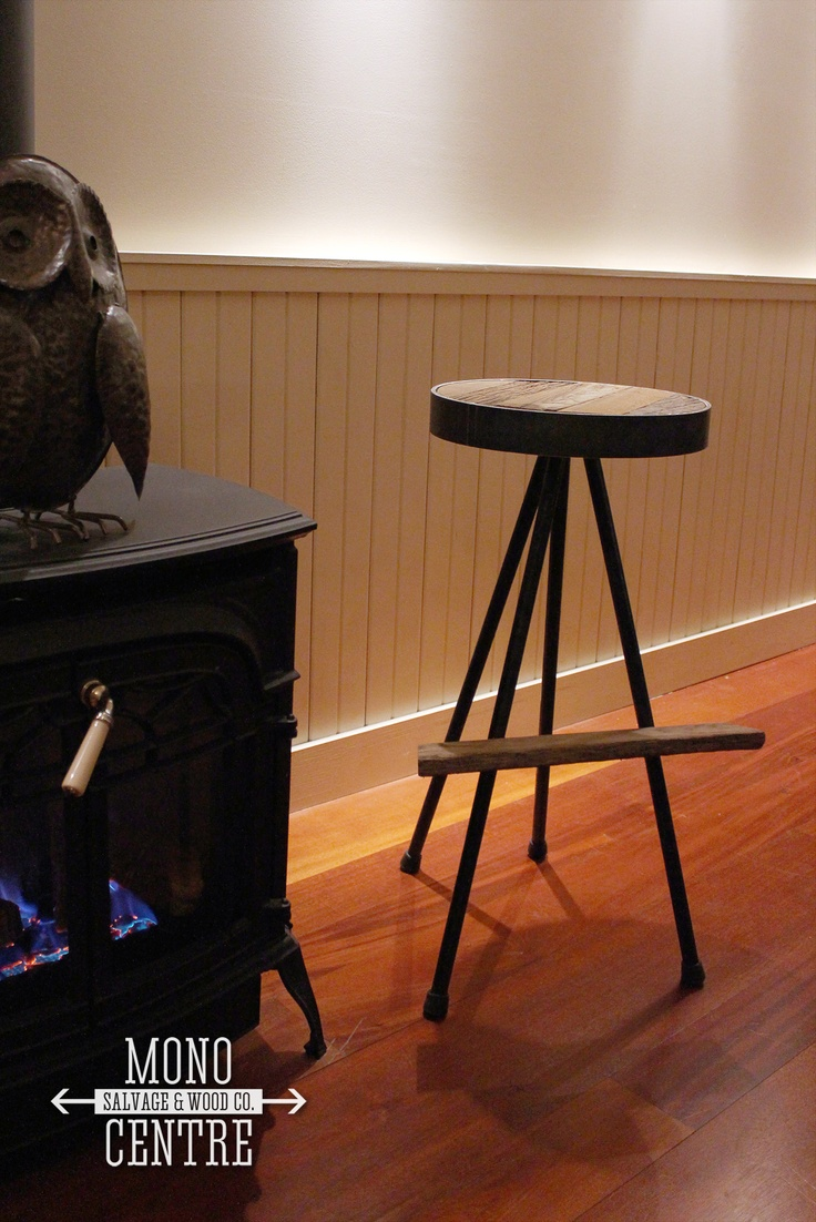 These Standard Bar Height Stools Are A Mix Of Rustic