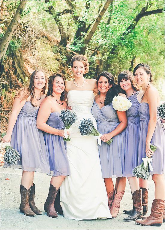 Northern California Farm Wedding Lavender Bridesmaid