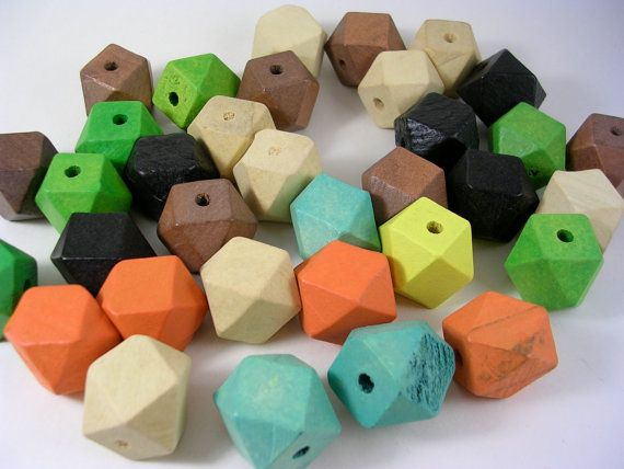 Faceted Wooden Cube Beads Imperfects Grab Bag by LindsayStreemDIY, $2.50