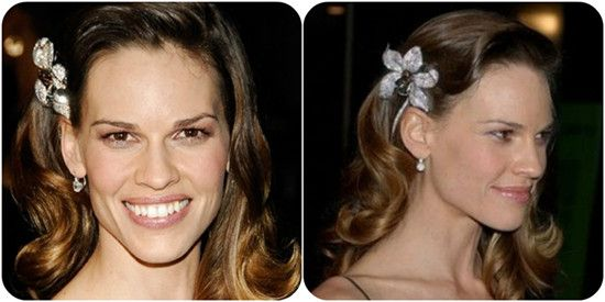 20 inches Two-Tone Human Hair Extensions uwo720 for Hot Ombre Hairstyles 2014 Hillary Swank medium length Curls