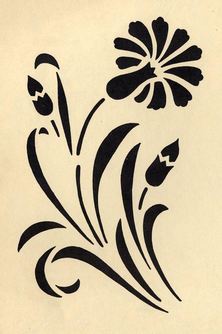 17 meilleures id es propos de pochoirs de fleurs sur pinterest pochoirs fleur silhouette et. Black Bedroom Furniture Sets. Home Design Ideas