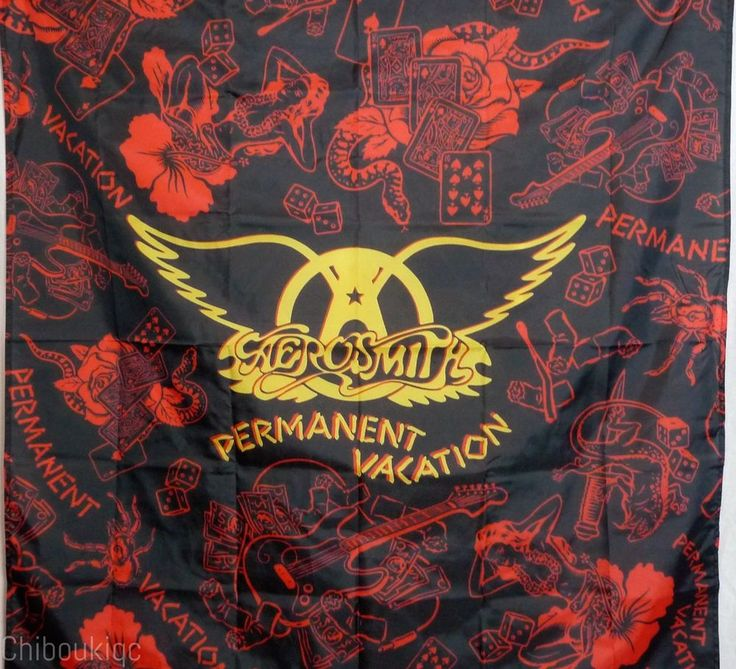 AEROSMITH Permanent Vacation HUGE 4X4 banner poster tapestry album cover art | eBay