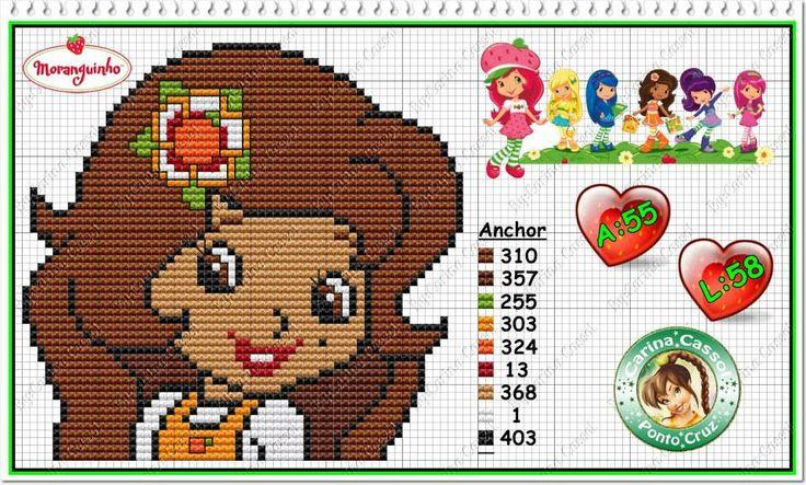 Strawberry Shortcake - Orange Blossom - cross stitch/perler bead pattern by Carina Cassol