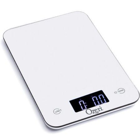 Ozeri Touch Professional Digital Kitchen Scale (12 lbs Edition), Tempered Glass, White