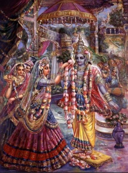 The marriage of Rukmini & Krsna