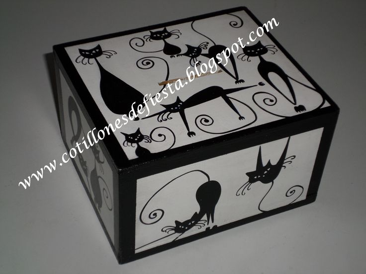 Caja de madera MDF pintada a mano
